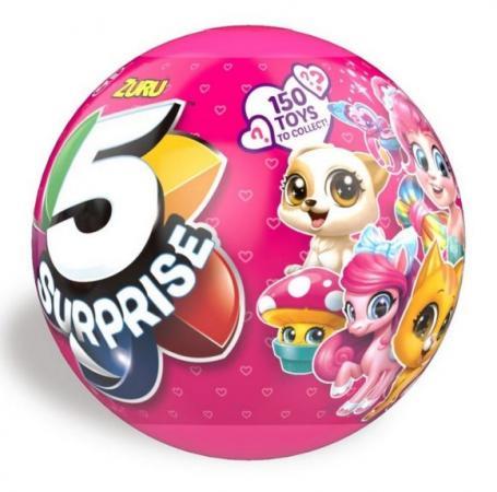 Комплект 1toy Шар - сюрприз для девочек пластик текстиль 7702 1toy мини кукла пироженка сюрприз цвет желтый розовый