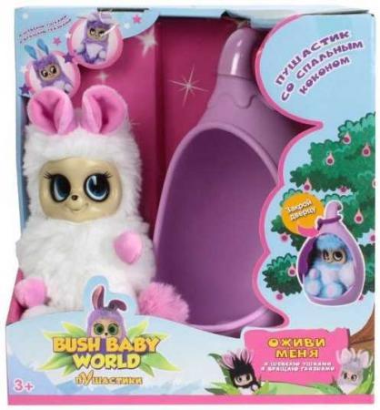 Купить Интерактивная мягкая игрушка Bush Baby Соня 17 см розовый белый искусственный мех пластик текстиль Т, Игрушки