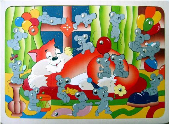 Магнитная игра Крона Мышиная охота, 124 элемента 143-046 развивающая игрушка крона мозаика вкладыш африка 22 элемента 143 016