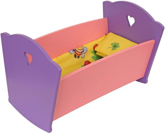 Набор мебели Краснокамская игрушка Кроватка с постельным бельем КМ-02 конструктор краснокамская игрушка к 02 пираты 40 элементов