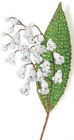 Набор для творчества Клевер Цветы из бисера Нежный ландыш АА 05-608