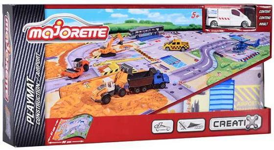 Игровой набор MAJORETTE 2056412 Коврик Creatix Construction, 1 машинка majorette majorette питстоп creatix 1 авто
