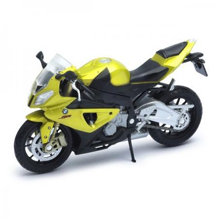 Мотоцикл Welly BMW S1000RR желтый 12810P bjmoto universal 7 8 22mm handlebar brake clutch protect motorcycle lever guard proguard for bmw hp4 r1200rs s1000rr k1300gt