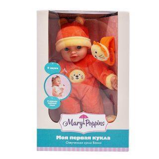 Пупс Mary Poppins Моя первая кукла - Бекки с игрушкой 30 см со звуком кукла mary poppins бекки зайка 451185
