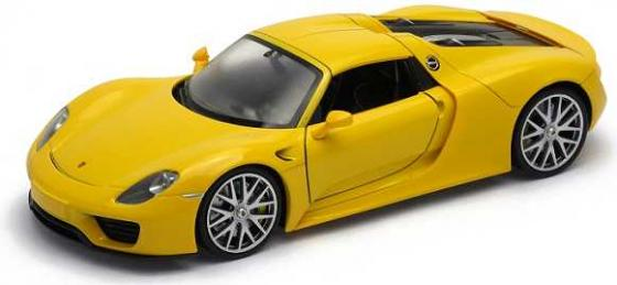 Автомобиль Welly Porsche 918 Spyder 1:24 желтый 24055 цена