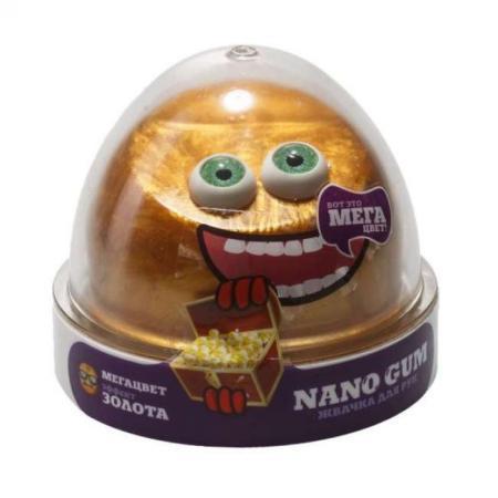 Купить Жвачка для рук жвачка для рук NanoGum Жвачка для рук золотой металлик полимер, Игрушки