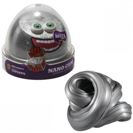 Купить Жвачка для рук жвачка для рук NanoGum Жвачка для рук эффект серебра серый полимер, Игрушки
