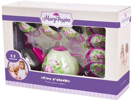 Набор посуды Mary Poppins Розовый сад металлическая 11 предметов mary poppins пылесос mary poppins умный дом