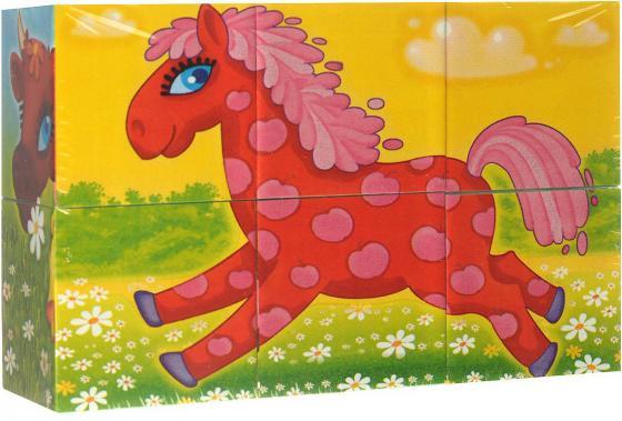 Кубики СТЕЛЛАР Герои сказок N23 6 шт 00823 развивающие игрушки стеллар кубики животные 4 шт