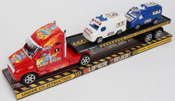 Грузовой трейлер, 2 машины в комплекте, 50,5*10*15,5
