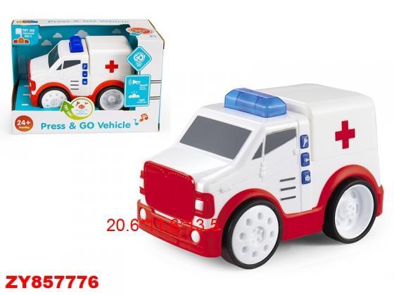 Машинка best toys Скорая помощь разноцветный автомобиль polesie скорая помощь 71293