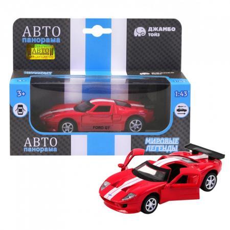 Инерционная машинка Автопанорама Ford GT 1:40 красный дефлекторы окон novline autofamily ford tourneo transit custom 2013