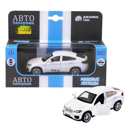 Инерционная машинка Автопанорама BMW X6, 1:43 белый поло burton menswear london burton menswear london bu014emeyhx6