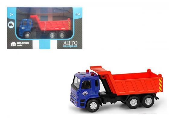 Инерционная машинка Автопанорама Самосвал 1:54 синий инерционная машинка автопанорама самосвал 1 54 синий