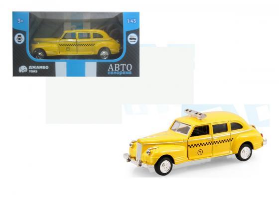 Инерционная машинка Автопанорама Такси 1:43 желтый инерционная машинка автопанорама самосвал 1 54 синий