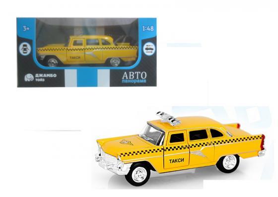 Инерционная машинка Автопанорама Такси 1:48 желтый инерционная машинка автопанорама самосвал 1 54 синий