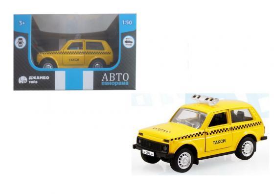 Инерционная машинка Автопанорама Такси, 1:50 желтый инерционная машинка автопанорама самосвал 1 54 синий