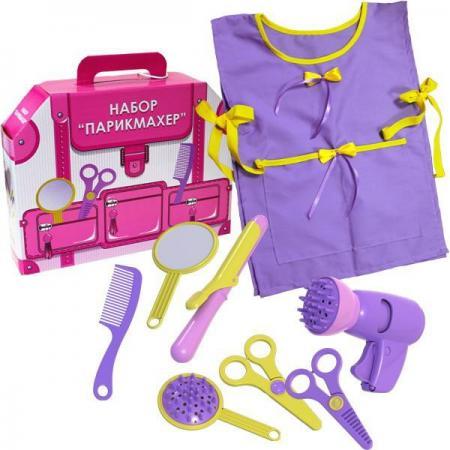 Игровой набор Пластмастер Парикмахер 10 предметов 22146 игрушка пластмастер набор викинг