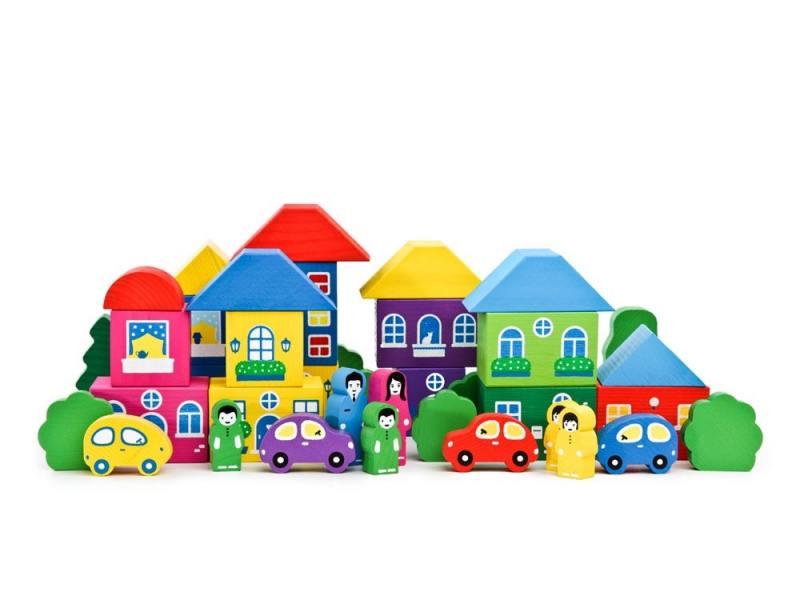 Конструктор Томик Цветной городок 41 элемент 8688-8 конструктор для малышей томик веселый городок