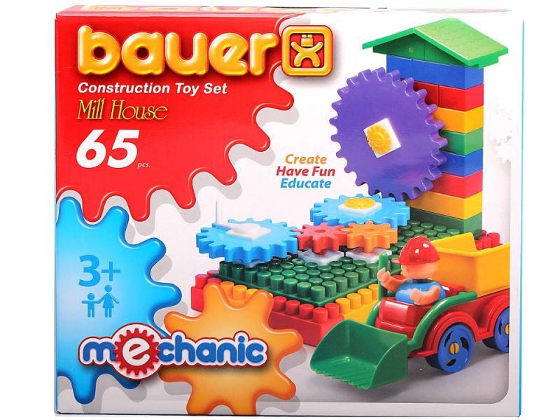 Купить Конструктор Bauer Мельница малая 65 элементов 189, Конструкторы, мозаики, пазлы