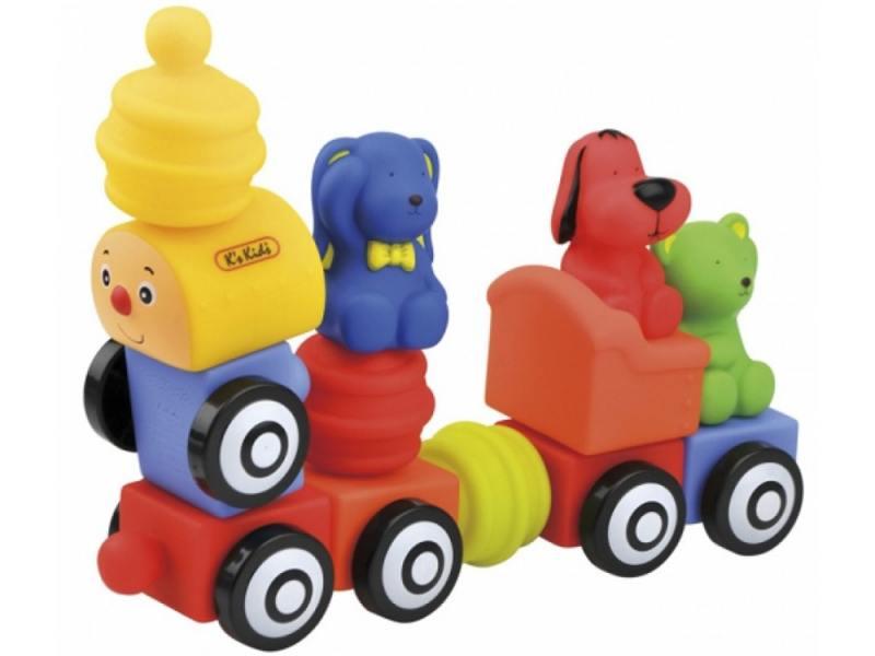 Купить Конструктор KS Kids Поезд друзей 13 элементов 10654, Конструкторы, мозаики, пазлы