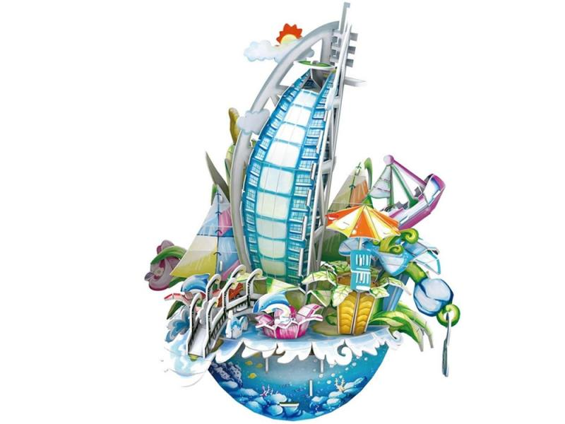 Пазл 3D 57 элементов CubicFun Городской пейзаж Дубаи OC3202h пазл 73 5 x 48 8 1000 элементов printio осенний пейзаж константин коровин
