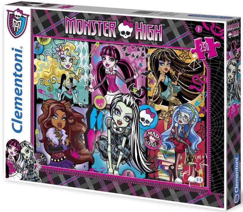 Monster High Пазл Портреты фриков 250 элементов 29682 наклейка monster high