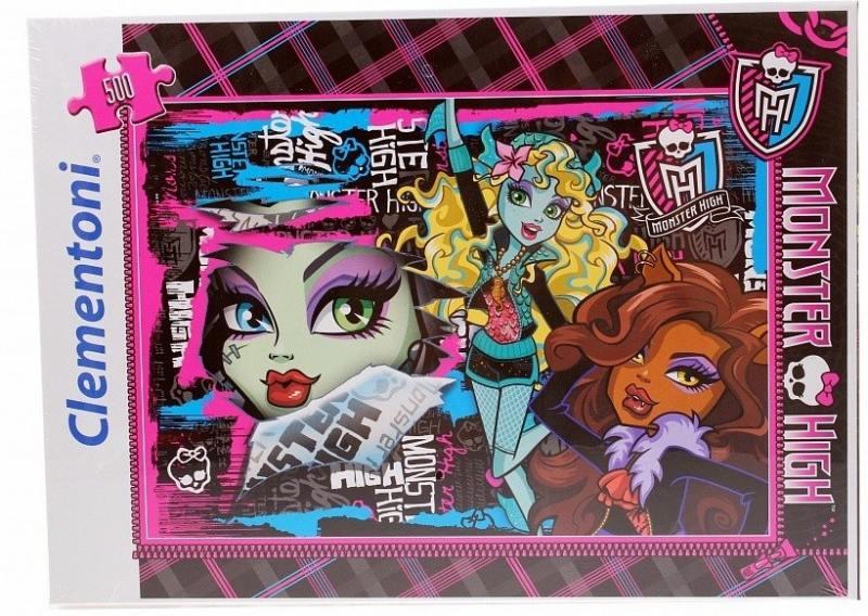 Monster High Пазл Чудовищные друзья 500 элементов 30120 наклейка monster high
