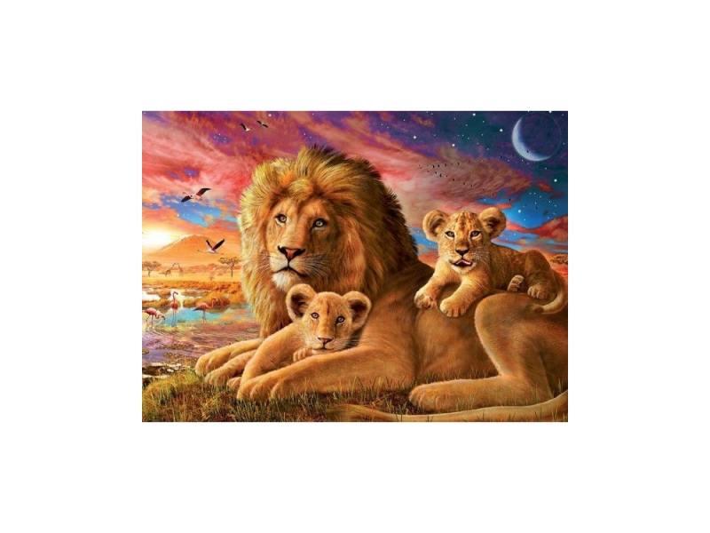 Пазл Ravensburger Семейство львов 500 элементов ravensburger принцессы на прогулке пазл 15 элементов