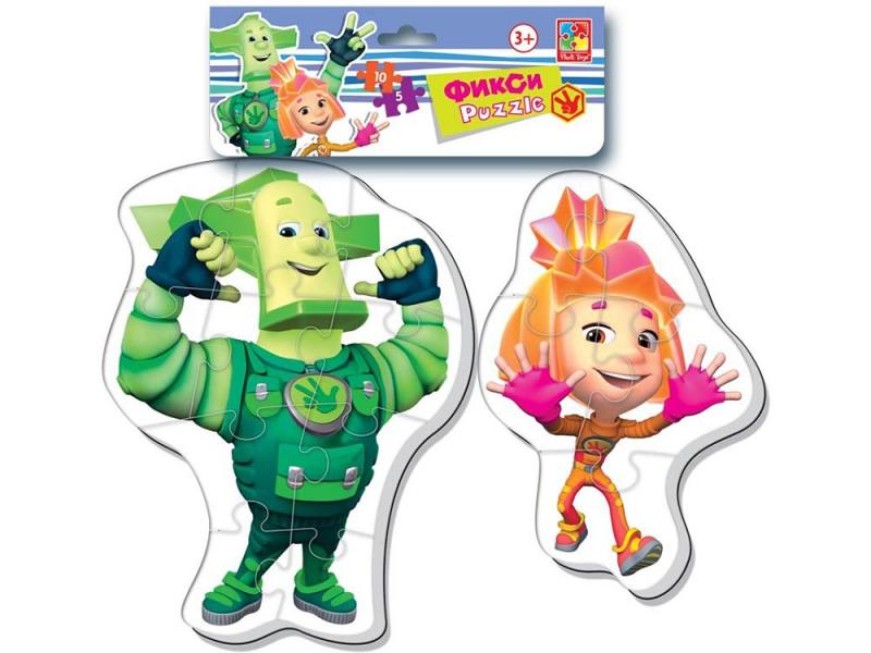 Мягкий пазл 15 элементов Vladi toys Baby puzzle. Фиксики Макси VT1108-01