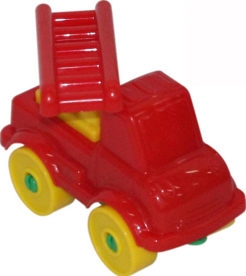 Купить Конструктор Полесье Юный путешественник Пожарный автомобиль 8 элементов 55286, Конструкторы, мозаики, пазлы