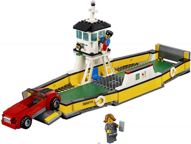 Конструктор Lego City Паром 60119 конструктор lego city фургон и дом на колёсах