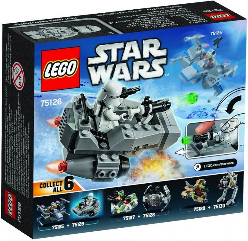 Конструктор Lego Star Wars Снежный спидер Первого Ордена 75126 конструктор lepin star plan тяжелый разведывательный шагоход первого ордена 620 дет 05126