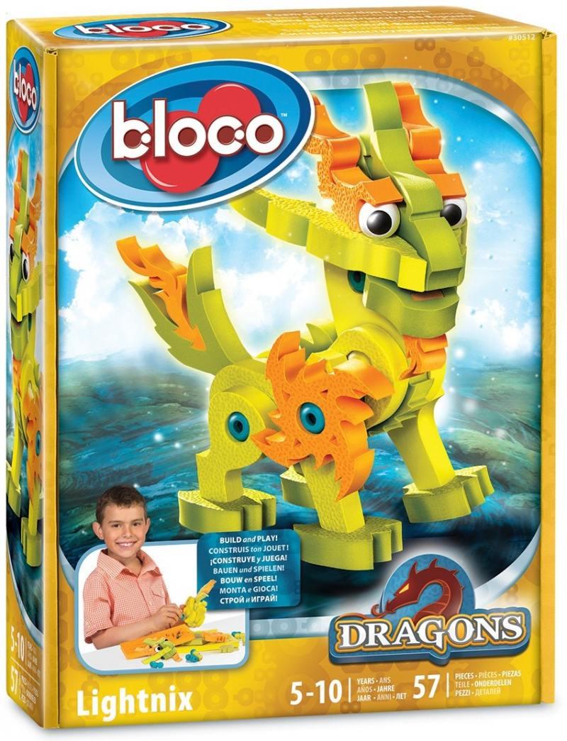 Развивающий конструктор BLOCO Дракон Лайтникс 30512 bloco конструктор динозавры велоцераптор и птерозавр