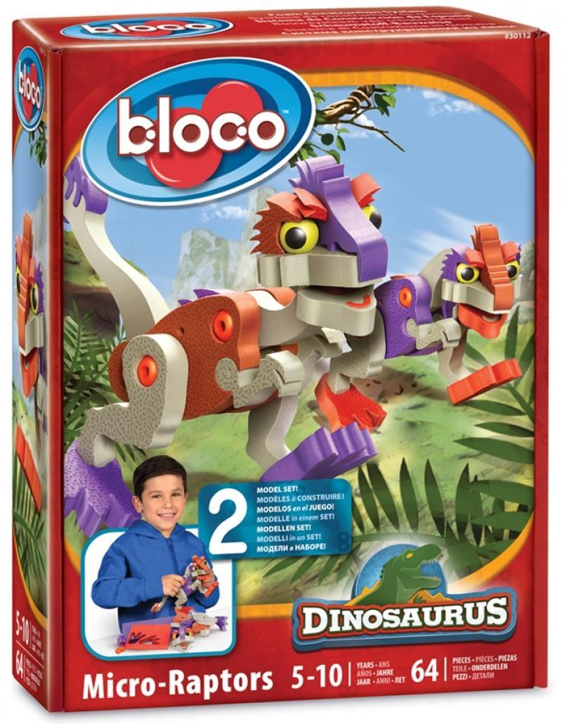 Купить Развивающий конструктор BLOCO Динозавр МикроРаптор 30112, Конструкторы, мозаики, пазлы