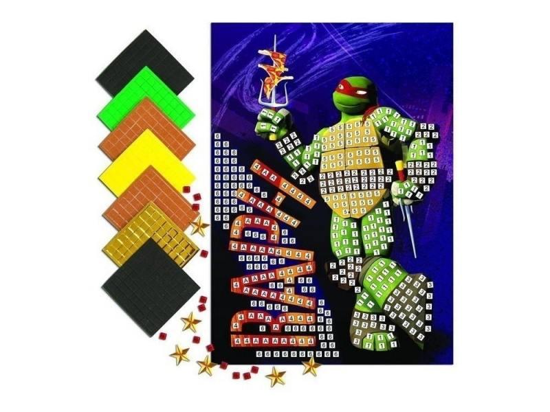 Мозайка мягкая 7 элементов Kuso Черепашки - ниндзя Рафаэль, формат А4 10033