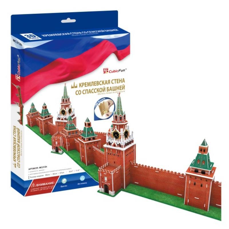 Пазл 3D CubicFun Кремлевская стена со Спасской башней