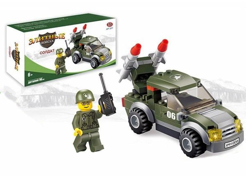 Конструктор Play Smart Элитные войска солдат 96 элементов play smart play smart конструктор умная стройка грузовой термнал