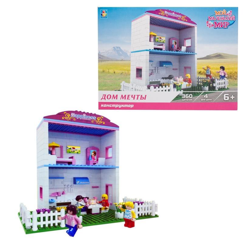 Конструктор 1 Toy Мой маленький мир Дом мечты  360 элементов