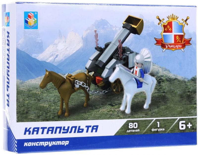 Конструктор 1 Toy Рыцари Катапульта 80 элементов