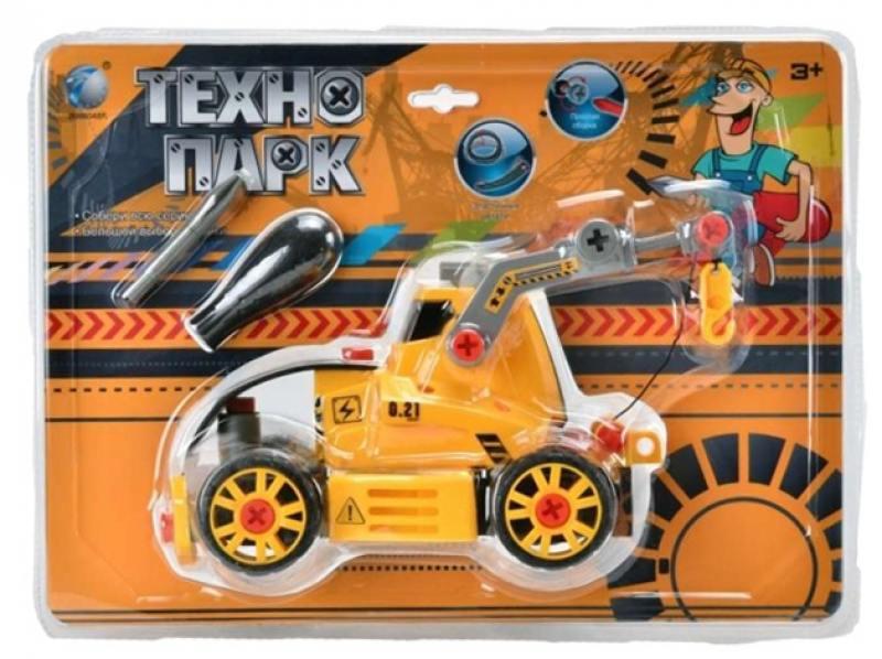 Конструктор Tongde Технопарк Трактор на гусеницах с подъемником tongde технопарк в блистере трактор в72180