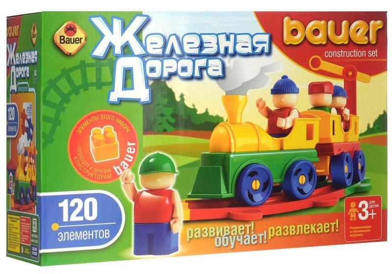 Конструктор Bauer Железная дорога 120 элементов конструктор bauer питон 58 элементов