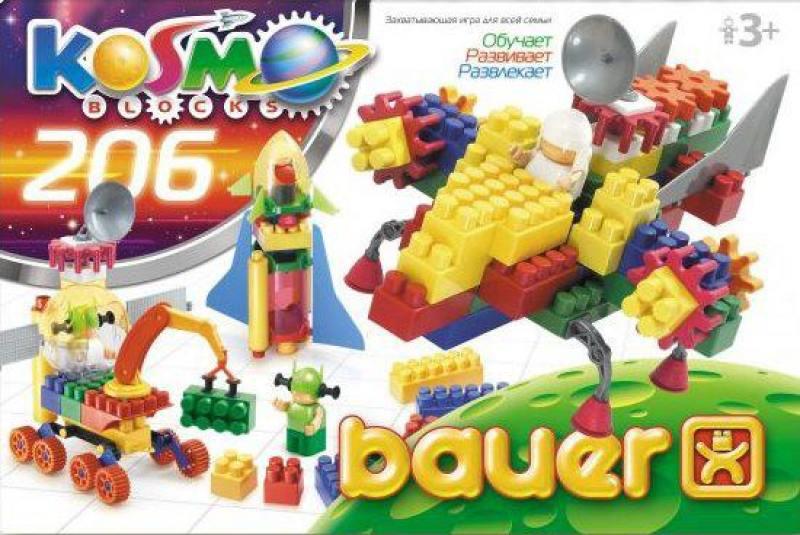 Конструктор Bauer Космос 206 элементов конструкторы bauer стройка 50 элементов