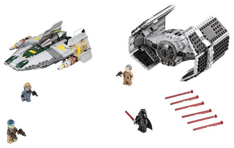 Конструктор Lego Star Wars Усовершенствованный истребитель СИД Дарта Вейдера против Звёздного Истреб lego конструктор сид дарта вейдера против a wing star wars 75150