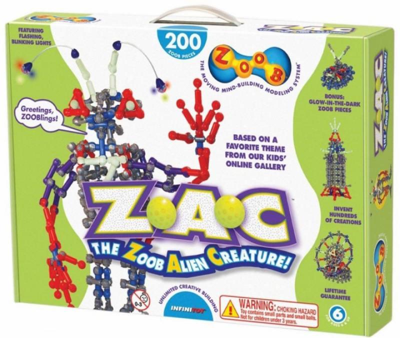 Конструктор ZOOB Glow Alien Creature 14002 конструктор zoob 11060 sparkle 60