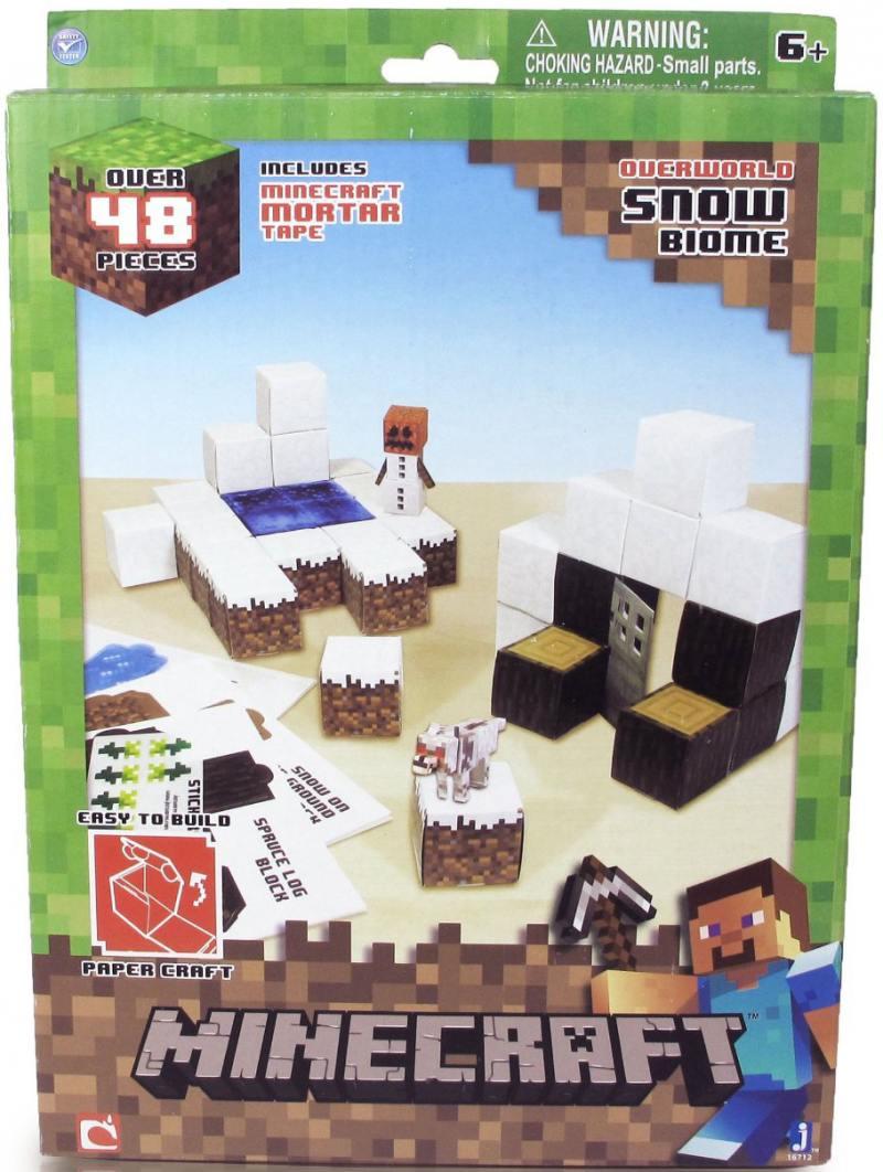 Конструктор из бумаги Minecraft Снежный биом,48 дет.,наклейки конструктор из бумаги minecraft стив 3 элемента 16501