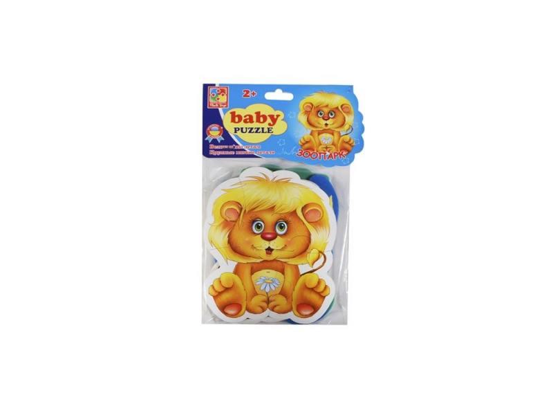 Пазл Vladi toys мягкий Baby puzzle Зоопарк 15 элементов VT1106-10