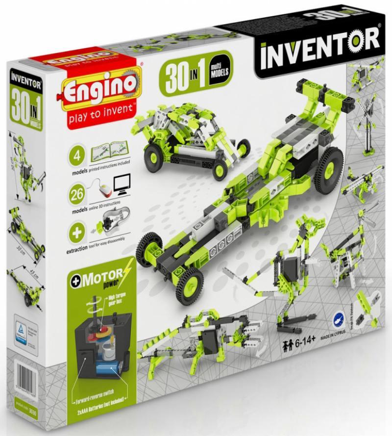 Конструктор Engino Inventor 120 элементов 3030 с мотором цены