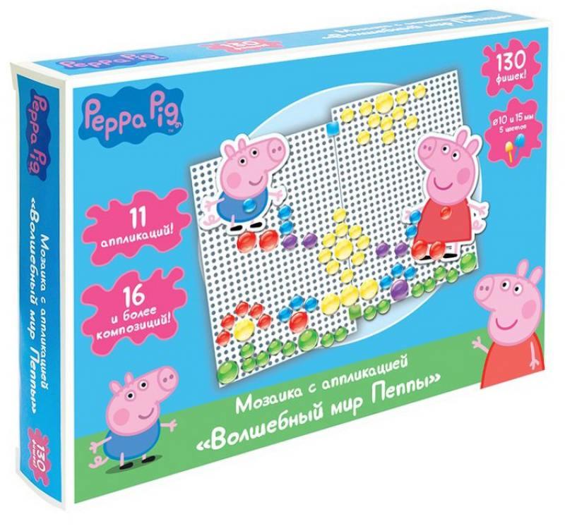 Набор для творчества Росмэн Peppa Pig мозаика с апплик. Волшебный мир Пеппы росмэн peppa pig superstar