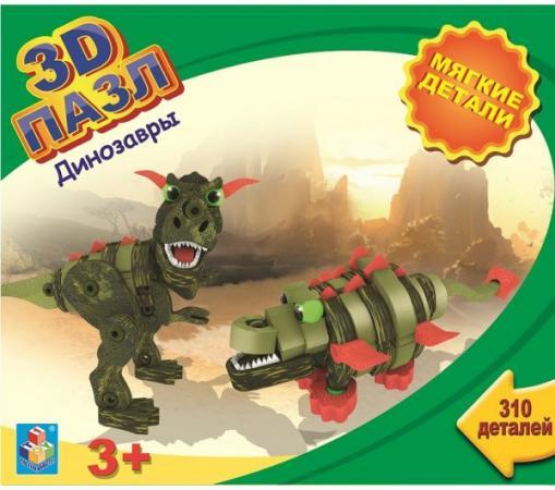 Пазл 3D 1 Toy с мягкими EVA деталями Динозавры, 310 дет airplane 3d jigsaw laser cutting model puzzle educational diy toy